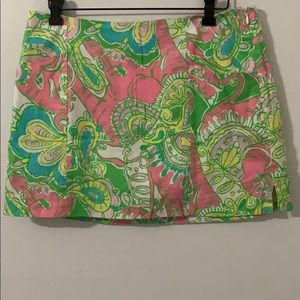Lilly Pulitzer multicolored paisley skirt size 4